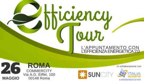 Suncity Efficiency Tour 2017 fa tappa a Roma il 26 maggio.
