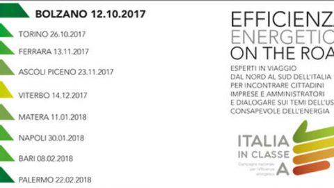 """ENEA lancia la campagna itinerante """"Efficienza energetica on the road"""""""