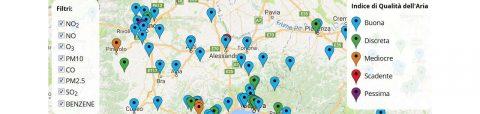 Qualità dell'aria in Italia in tempo reale sul web