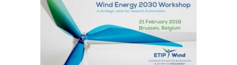 Wind Energy workshop 2030, Bruxelles, 21 febbraio 2018