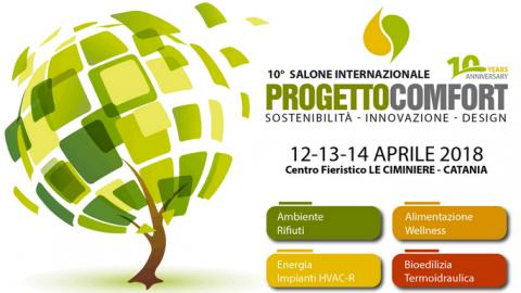 Progetto Comfort 2018 a Catania, 12-14 aprile 2018