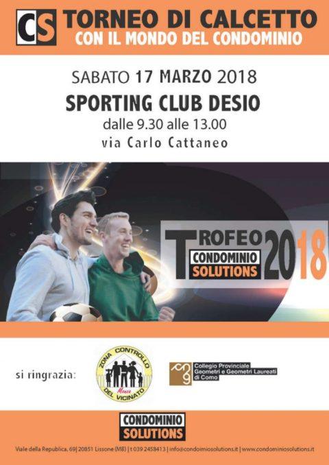 Trofeo Condominio Solutions 2018: Sporting Club Desio, 19 marzo 2018