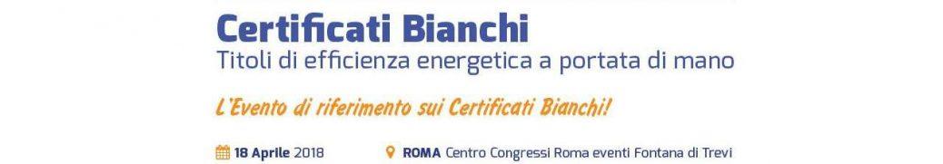 VI conferenza Certificati Bianchi