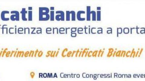 """""""Certificati Bianchi. Titoli di efficienza energetica a portata di mano"""", Roma, 18 aprile 2018"""