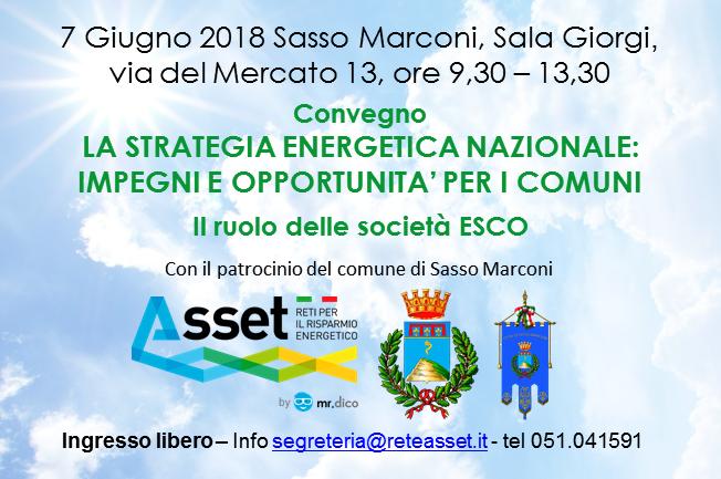 Strategia Energetica Nazionale e i Comuni - Sasso Marconi 7 giugno 2018