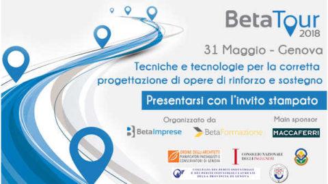 Tecniche e tecnologie per la corretta progettazione di opere di rinforzo e sostegno, Genova, 31 maggio 2018