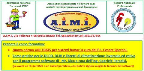 Corso UNI 10845 per sistemi fumari + Corso pratico per le DI.CO, DI.RI e libretti di climatizzazione invernale ed estiva con il software mr.dico