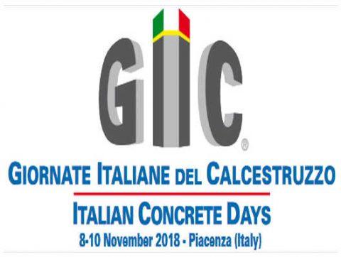 Giornate italiane del calcestruzzo. Piacenza, 8-10 novembre 2018