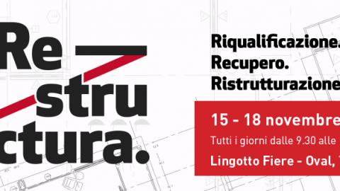 Restructura 2018, Torino, 15 – 18 novembre 2018