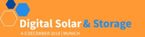 Digital Solar and Storage 2018, Monaco di Baviera, 3 – 4 dicembre 2018