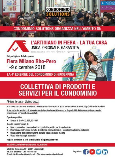 Collettiva di prodotti e servizi per il condominio, Milano, 1-9 dicembre 2018