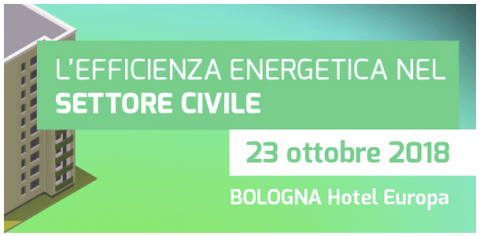 Conferenza Enermanagement Civile 2018, Bologna, 23 ottobre 2018