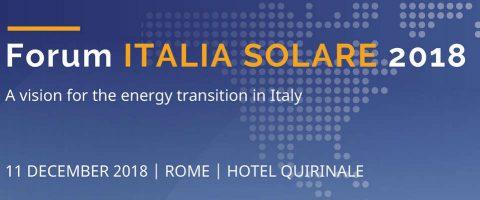 Forum Italia Solare 2018, Roma, 11 dicembre 2018
