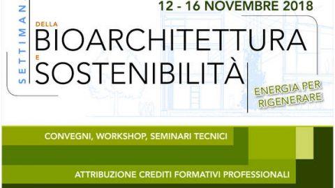 Dal 12 al 16 novembre 2018 arriva la Settimana della Bioarchitettura e Sostenibilità a Modena