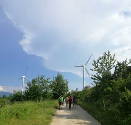 Visita al parco eolico di Monte Galletto