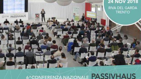 VI conferenza nazionale Passivhaus, Riva del Garda, 24 novembre 2018