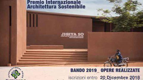 Premio internazionale Architettura Sostenibile 2019, c'è tempo fino al 20 dicembre 2018