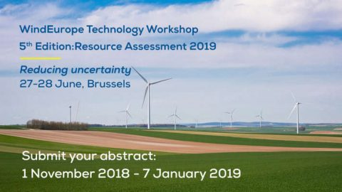 Wind Energy Workshops. Resource Assessment 2019 – 5th edition, Bruxelles, 27 – 28 giugno 2019, Brussels,