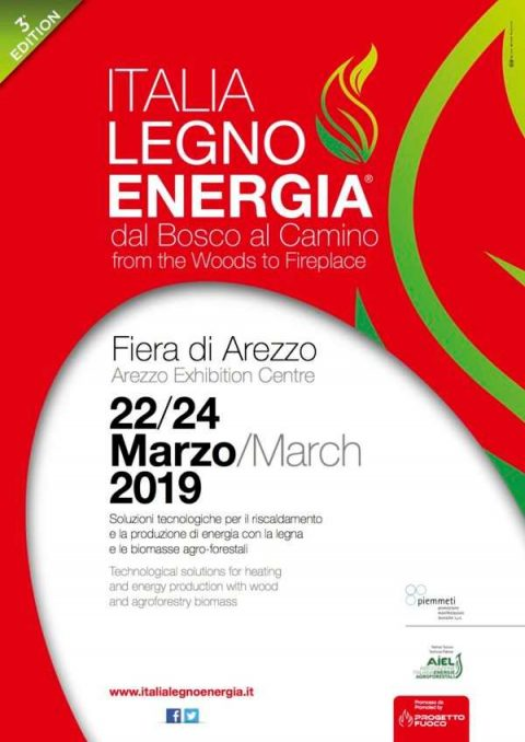 Italia Legno Energia 2019, Arezzo, 22 – 24 marzo 2019