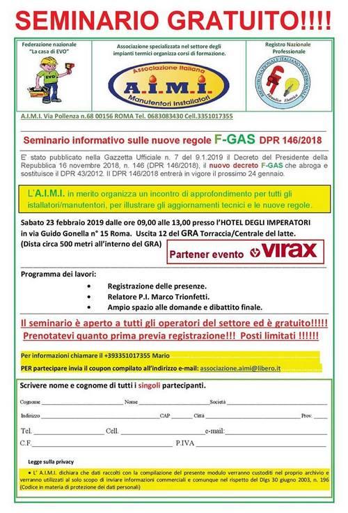 Seminario gratuito AIMI a Roma