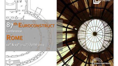 87a Euroconstruct Conference, Roma, 13 – 14 giugno 2019
