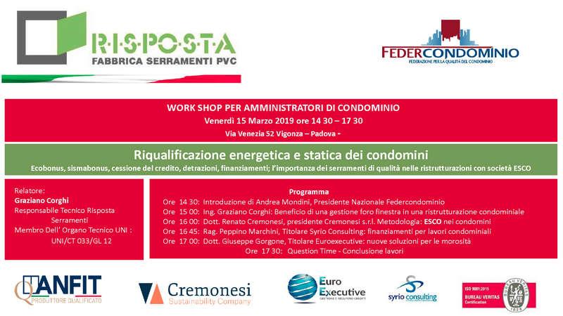 Workshop 15 Marzo Padova