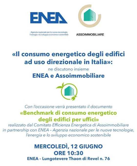 Consumo energetico degli edifici direzionali in Italia, Roma, 12 giugno 2019