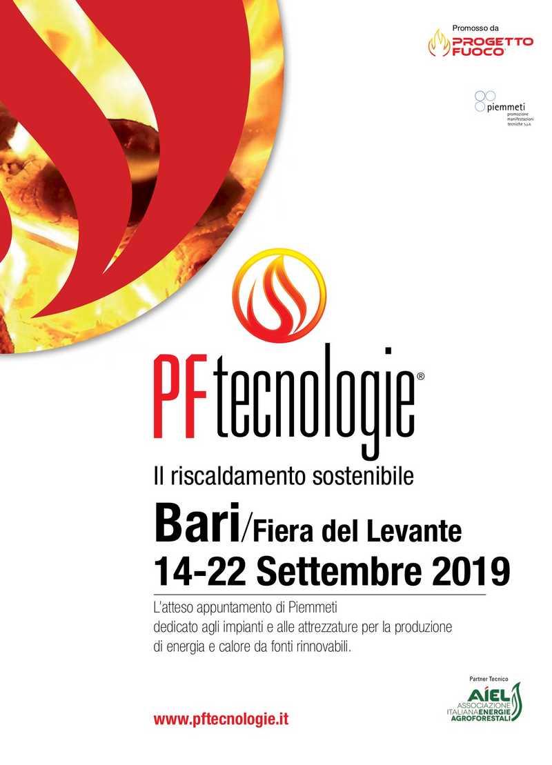 PF Tecnologie - Il riscaldamento sostenibile, Bari, Fiera del Levante, 14 - 22 settembre 2019