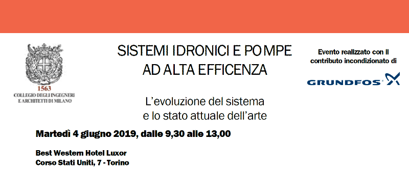 Sistemi Idronici, Torino, 4 giugno 2019