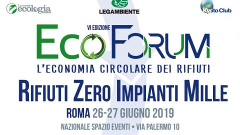 Ecoforum 2019, Roma, 26 – 27 giugno 2019