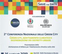 Seconda conferenza nazionale delle Green City, Milano, 16 luglio 2019