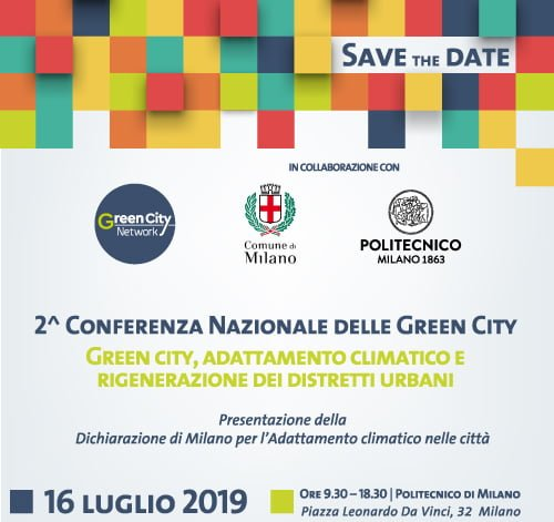 conferenza nazionale delle green city. Milano 2019