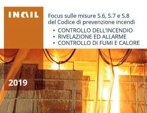 La protezione attiva antincendio, nuova pubblicazione INAIL