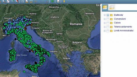Atlaimpianti, atlante interattivo degli impianti di produzione di energia in Italia, aggiornato a luglio 2019