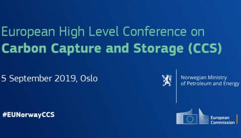 European High Level Conference on Carbon Capture and Storage (CCS), Oslo, 5 settembre 2019