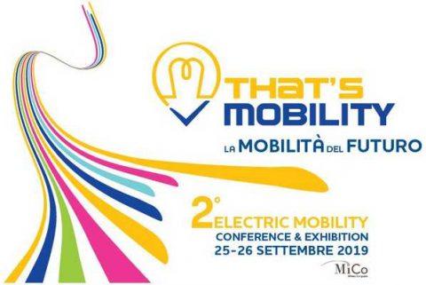 That's Mobility 2019, Milano, 25 – 26 settembre 2019