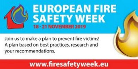 European Fire Safety Week, Bruxelles, 18 – 21 novembre 2019