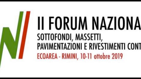 FORUM NAZIONALE MASSETTI e PAVIMENTI continui, Rimini, 10 e 11 ottobre 2019