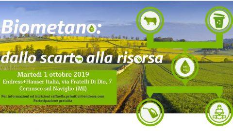 Seminario Biometano: dallo scarto alla risorsa, Milano, 1 ottobre 2019