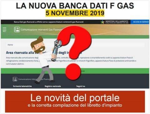 Corso: La nuova banca dati FGas,Vercelli, 5 novembre 2019