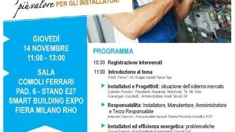 I finanziamenti per l'efficientamento: più valore per gli installatori, Milano, 14 novembre 2019