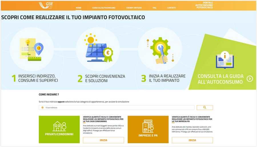 Portale Fotovoltaico GSE