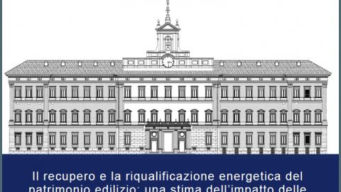 Il recupero e la riqualificazione energetica del patrimonio edilizio: una stima dell'impatto delle misure di incentivazione