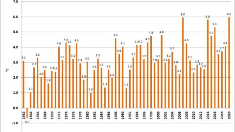 ARPAE: l'inverno 2020, in Emilia-Romagna, è stato il più mite dal 1962