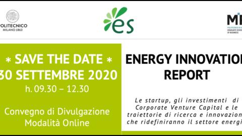 Presentazione Energy Innovation Report 2020, 30 settembre 2020 ore 9:30