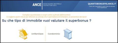 Da ANCE un sito per calcolare facilmente l'importo del Superbonus 110%